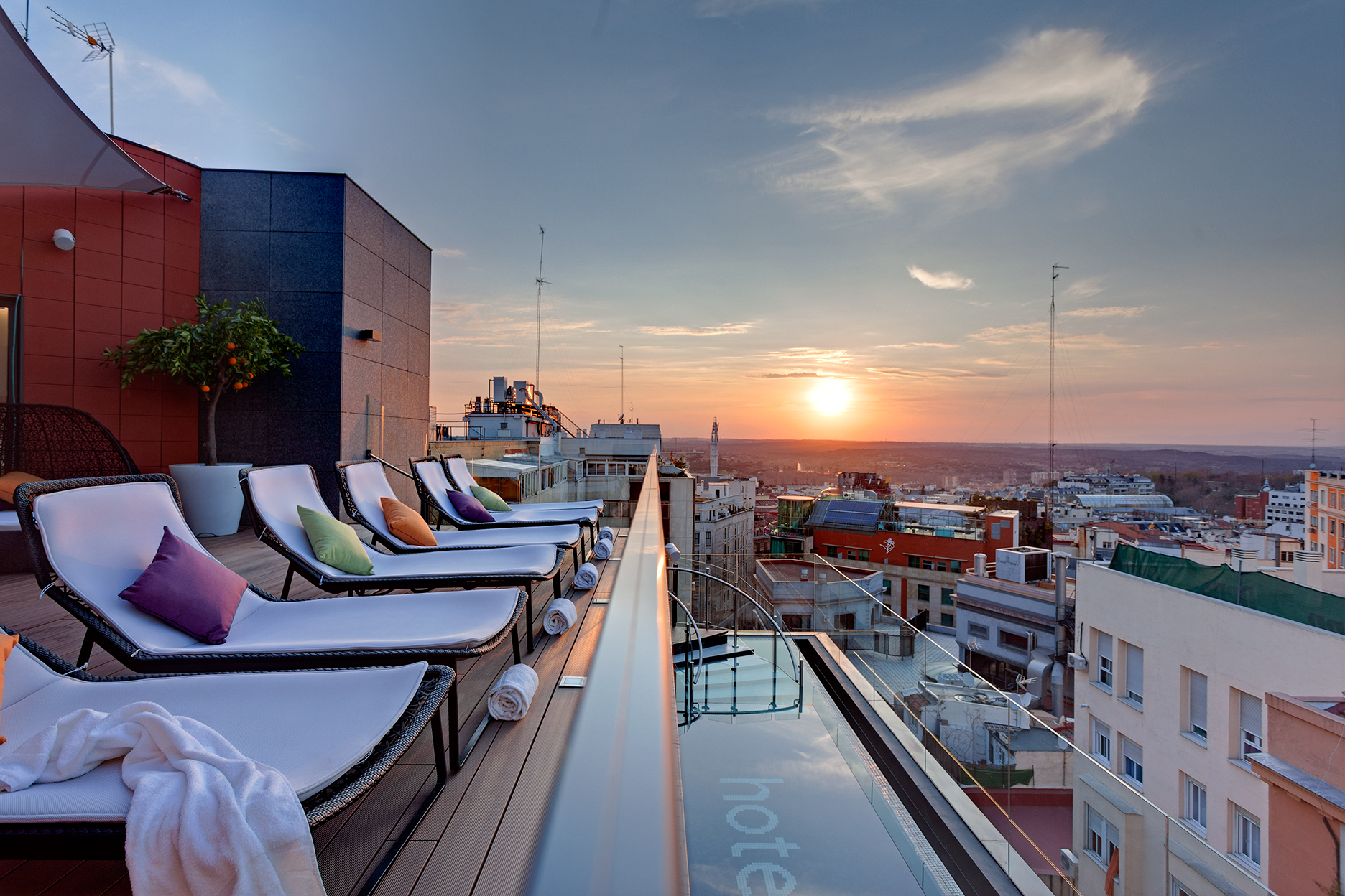 Skylounge del hotel Índigo Madrid (Gran Vía)
