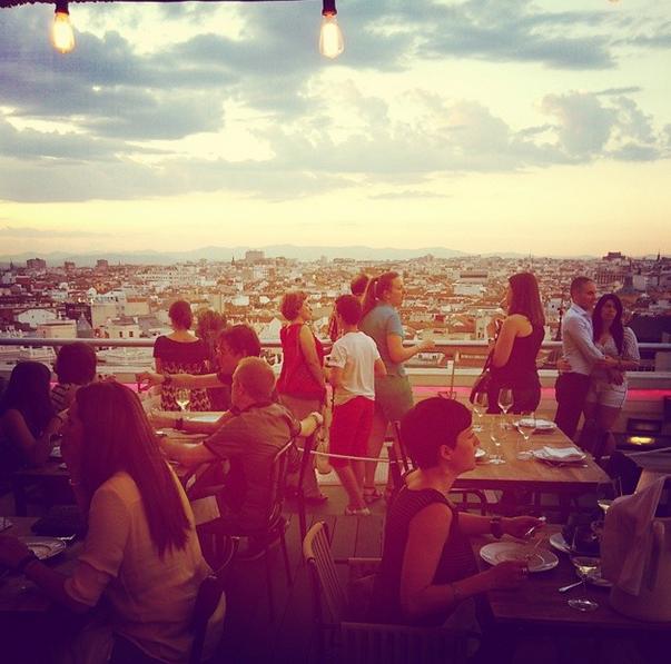 Vistas desde el tartan Roof, en la azotea del Círculo de Bellas Artes