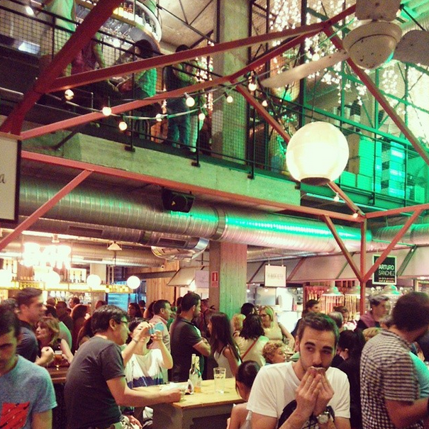 Mercado street food de San Ildefonso