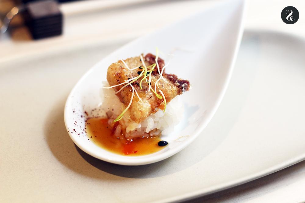 nigiri chicharrón Tampu restaurante peruano Madrid