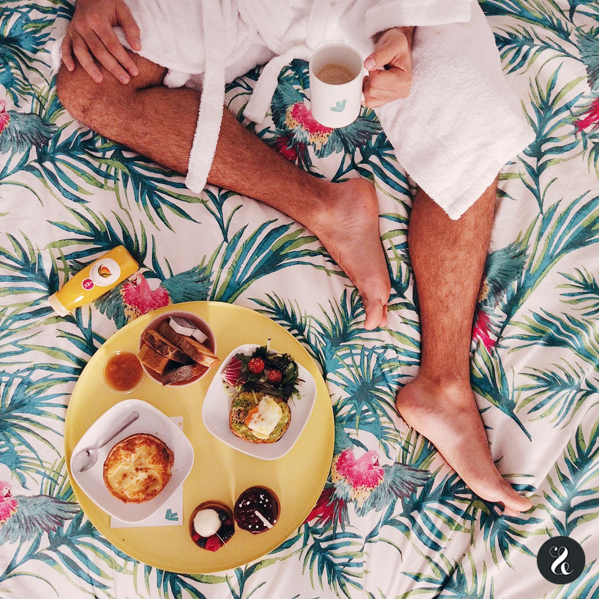 Fabio desayuna quiche de pitu y tartaletas de Mama Framboise y brunch dulce de Cripeka.
