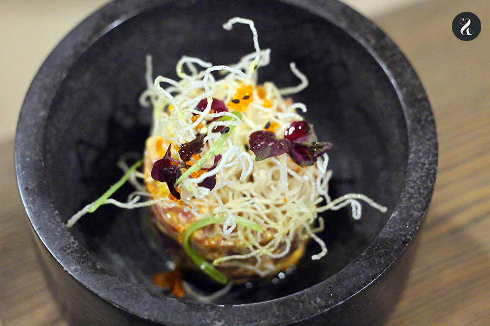 tartar atún rojo Lúbora bistró restaurante Madrid