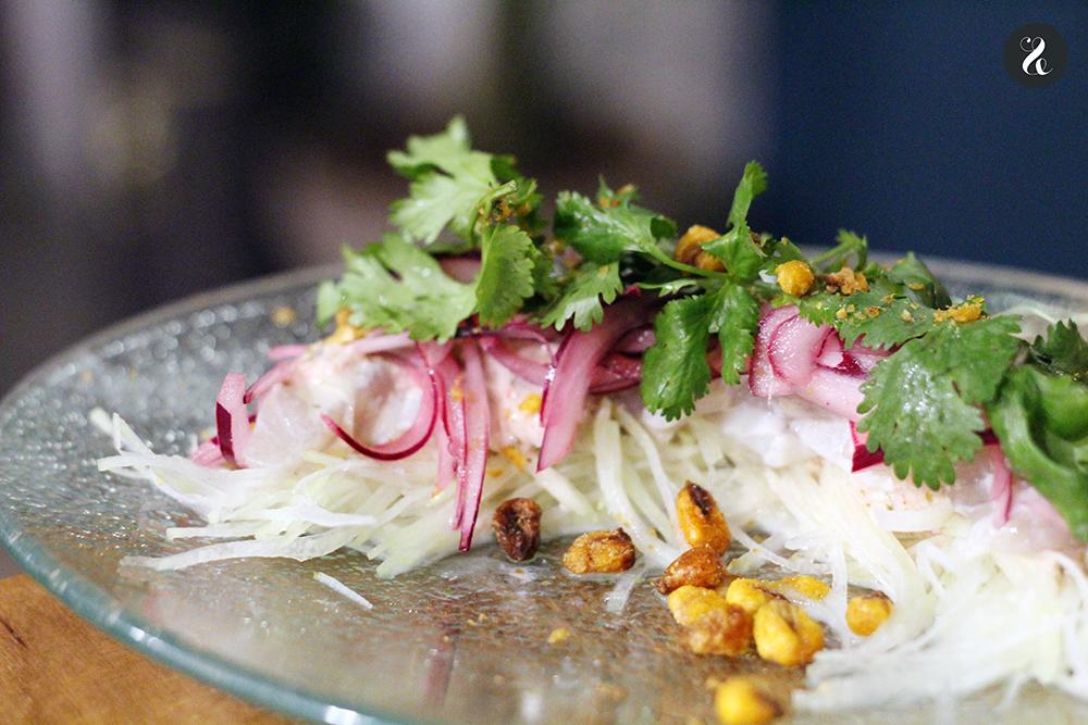 lubina acevichada Lamian restaurante ramen asiático Madrid