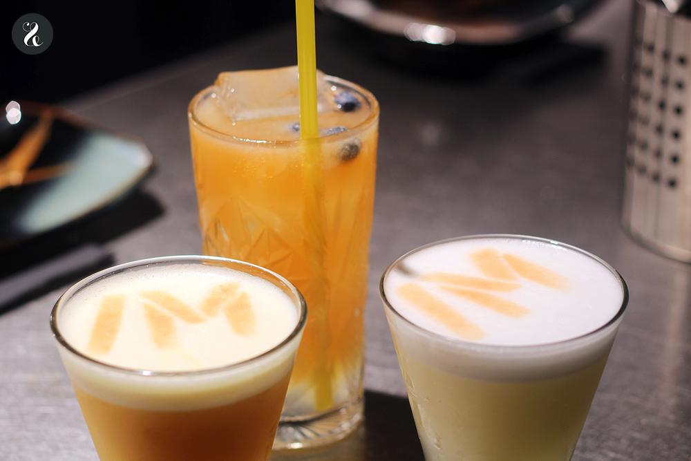 cócteles pisco sour barra Eme /M restaurante peruano Madrid