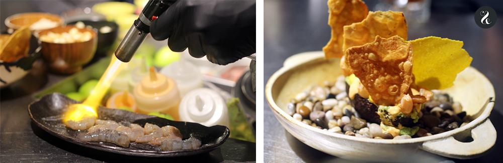 palta rellena gambas aguacate barra Eme /M restaurante peruano Madrid