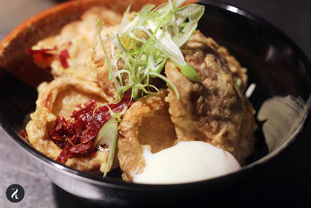 tempura shiitake barra Eme /M restaurante peruano Madrid