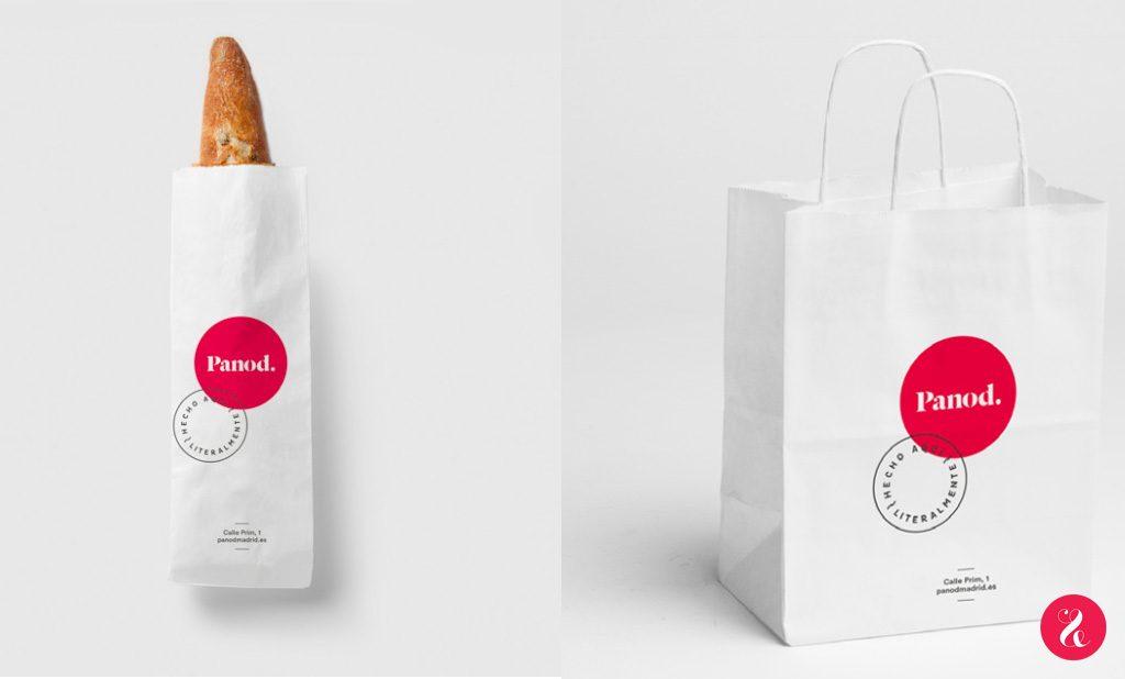 1. El proceso de panificación se elabora íntegramente en el obrador a la vista de Panod / 2. Nuestro estudio, eat&love, ha diseñado la marca de este proyecto con la dirección de Arte de Ángel Espinosa.