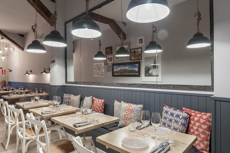sala restaurante fusión Kuoco Madrid