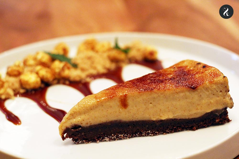 tarta plátano restaurante fusión Kuoco Madrid