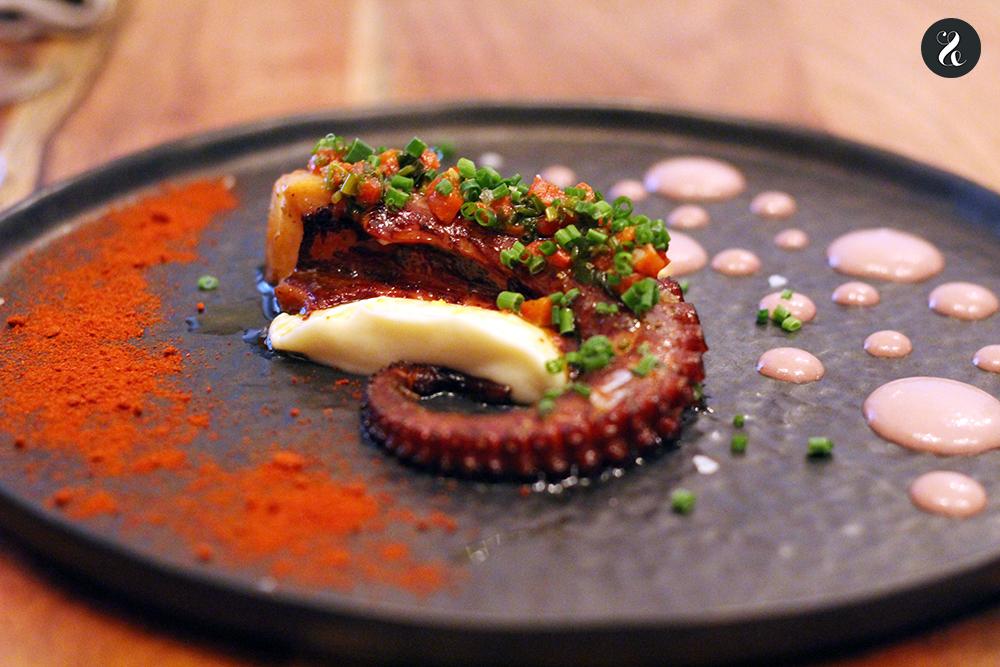 pulpo restaurante fusión Kuoco Madrid