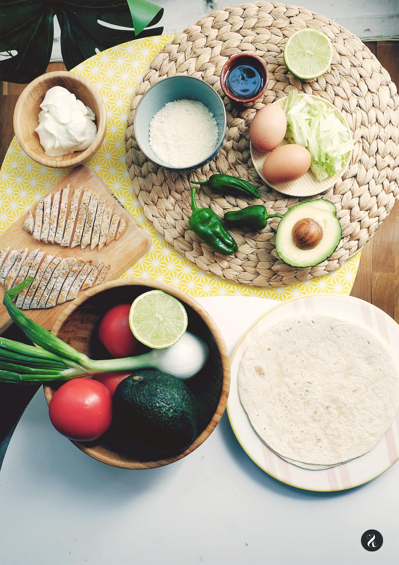 Ingredientes para preparar un burrito Pinterest