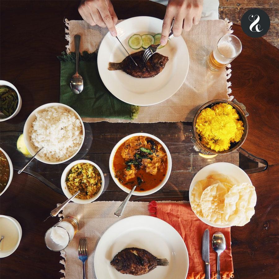 Una de las comidas que nos preparó nuestro chef en el 'houseboat' privado en el que recorrimos los Backwaters