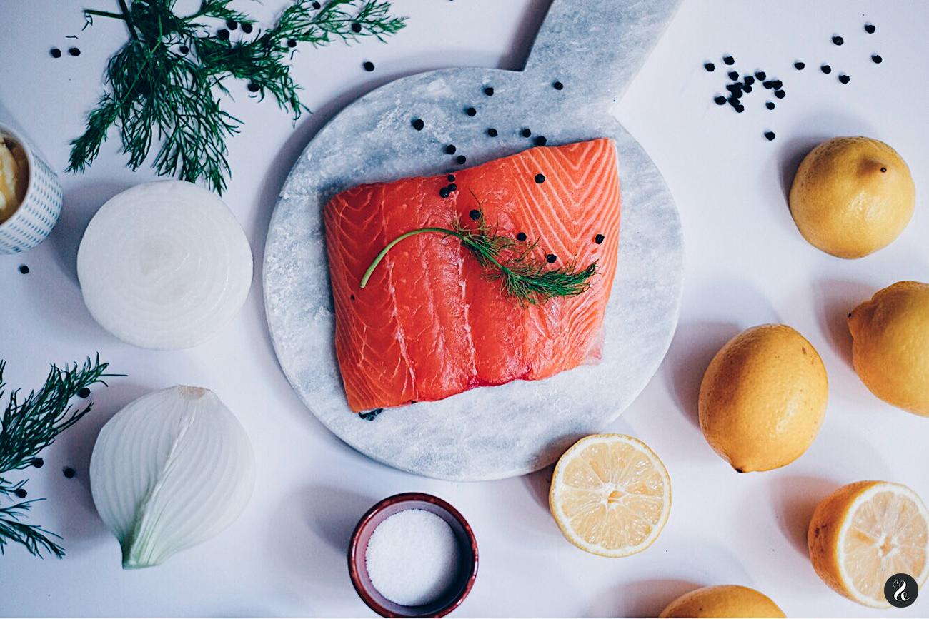 Ingredientes salmón estilo nórdico