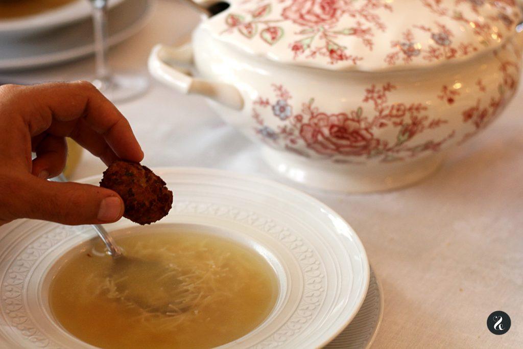 sopa de cocido - Casa de Cocidos Carmen - Madrid