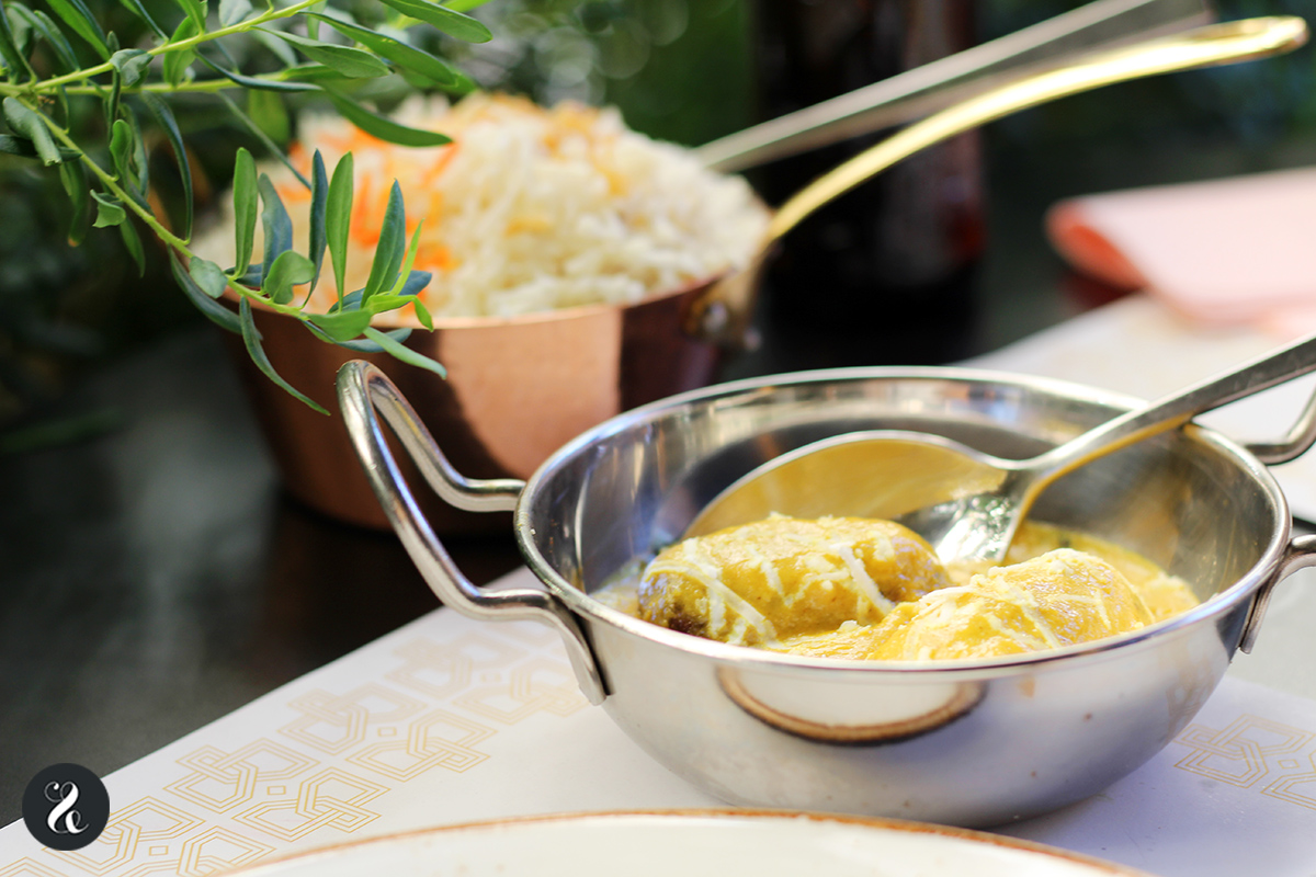 salmón korma - Bangalore Madrid restaurante indio
