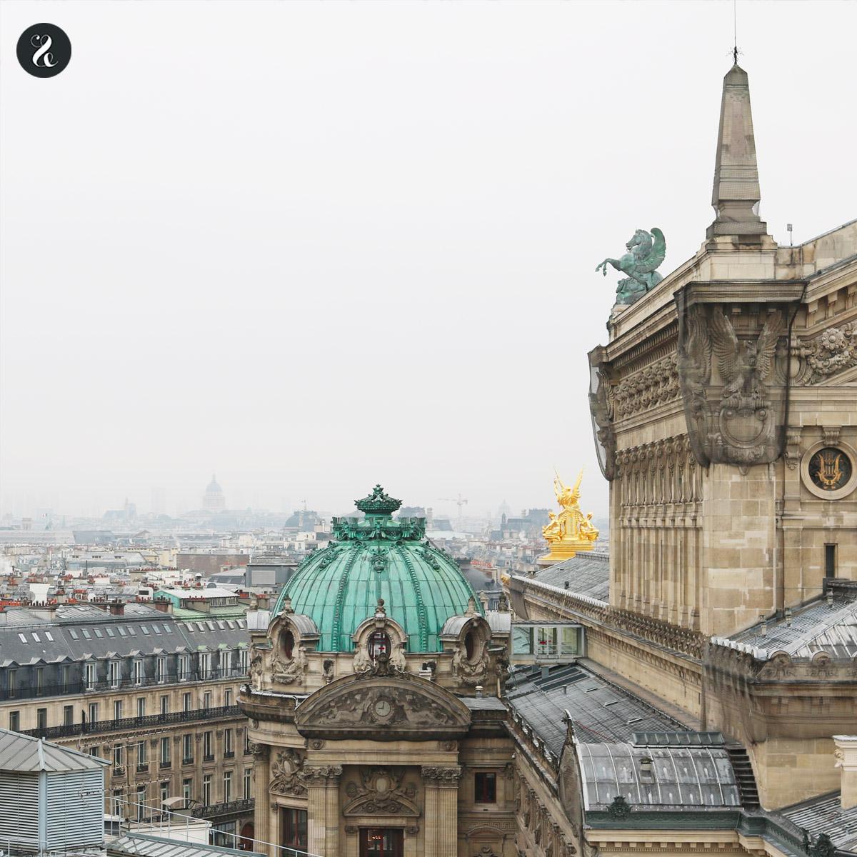 La Ópera Garnier galerías Lafayette guía viajes Paris
