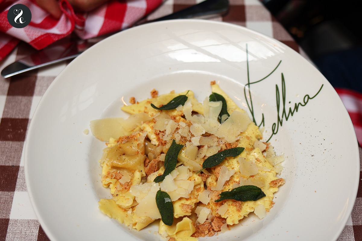 Fazzoletto relleno de zuca - Fellina - Restaurante italiano en Madrid