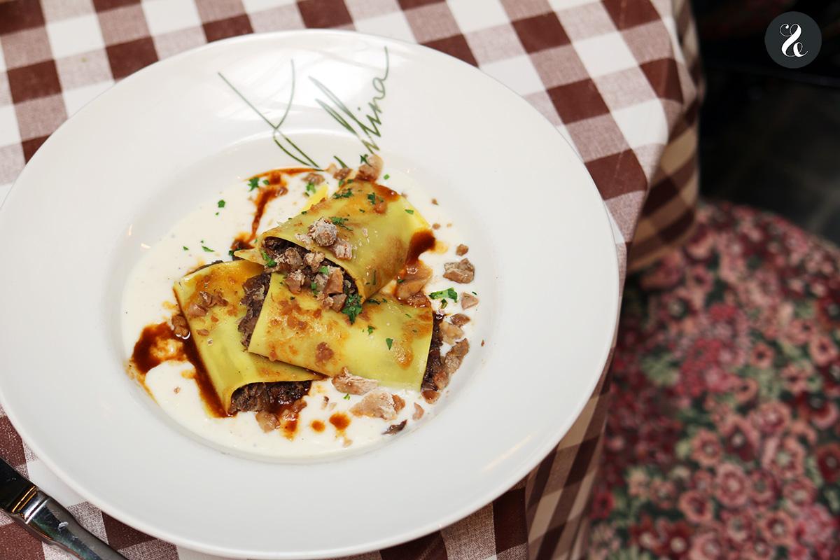 Paccheri con castañas - Fellina - Restaurante italiano en Madrid