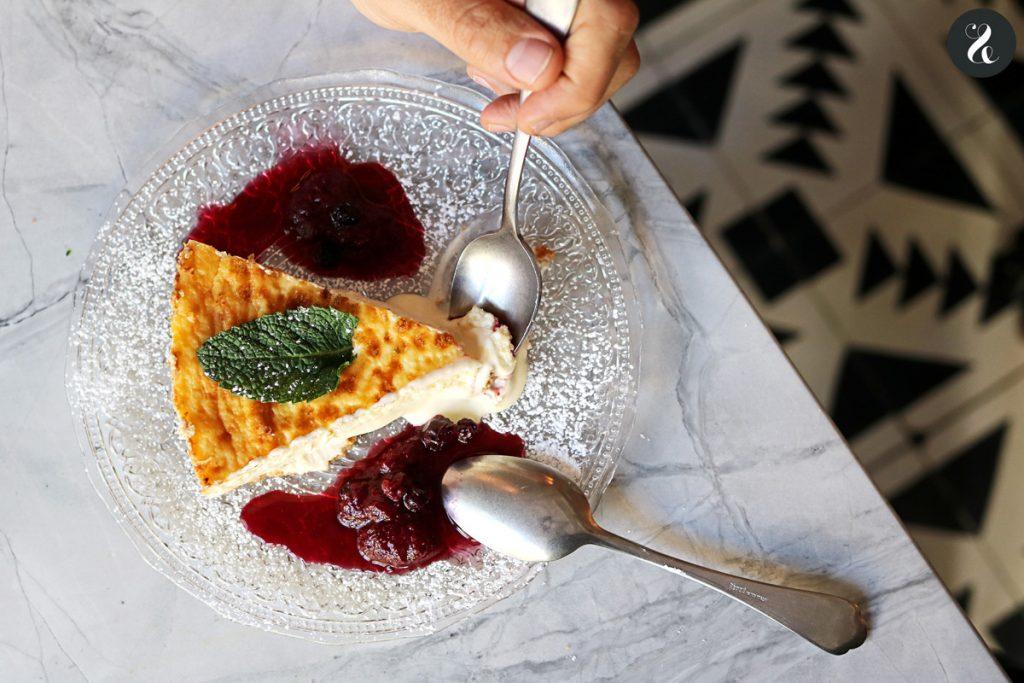 tarta de queso fluida - Gigi restaurante Madrid