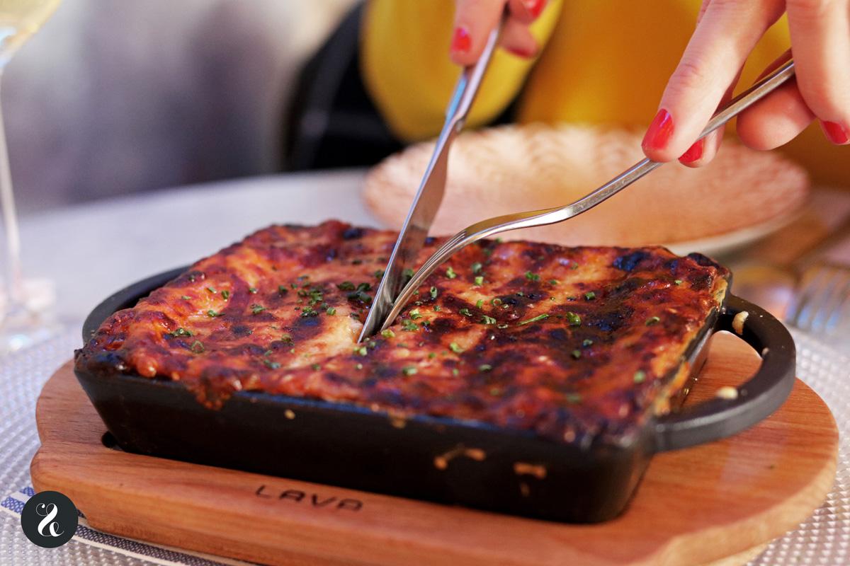 lasagna de bolognese de buey - Elektra Madrid