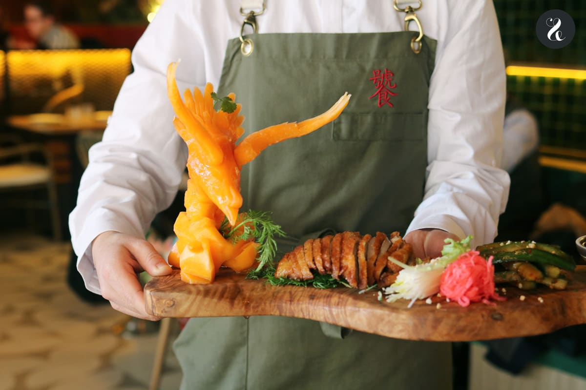 Pato laqueado - restaurante El Buda Feliz Madrid