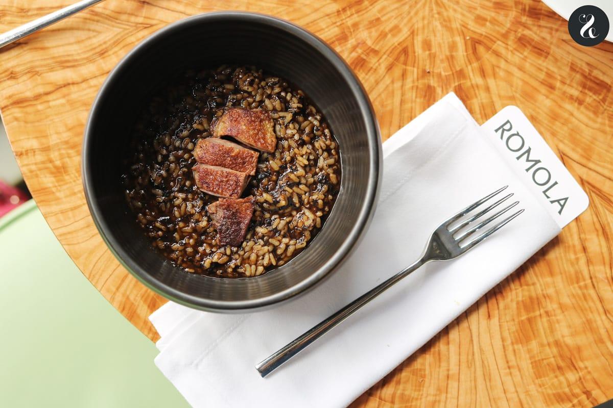 arroz con pichón - Rómola restaurante Madrid