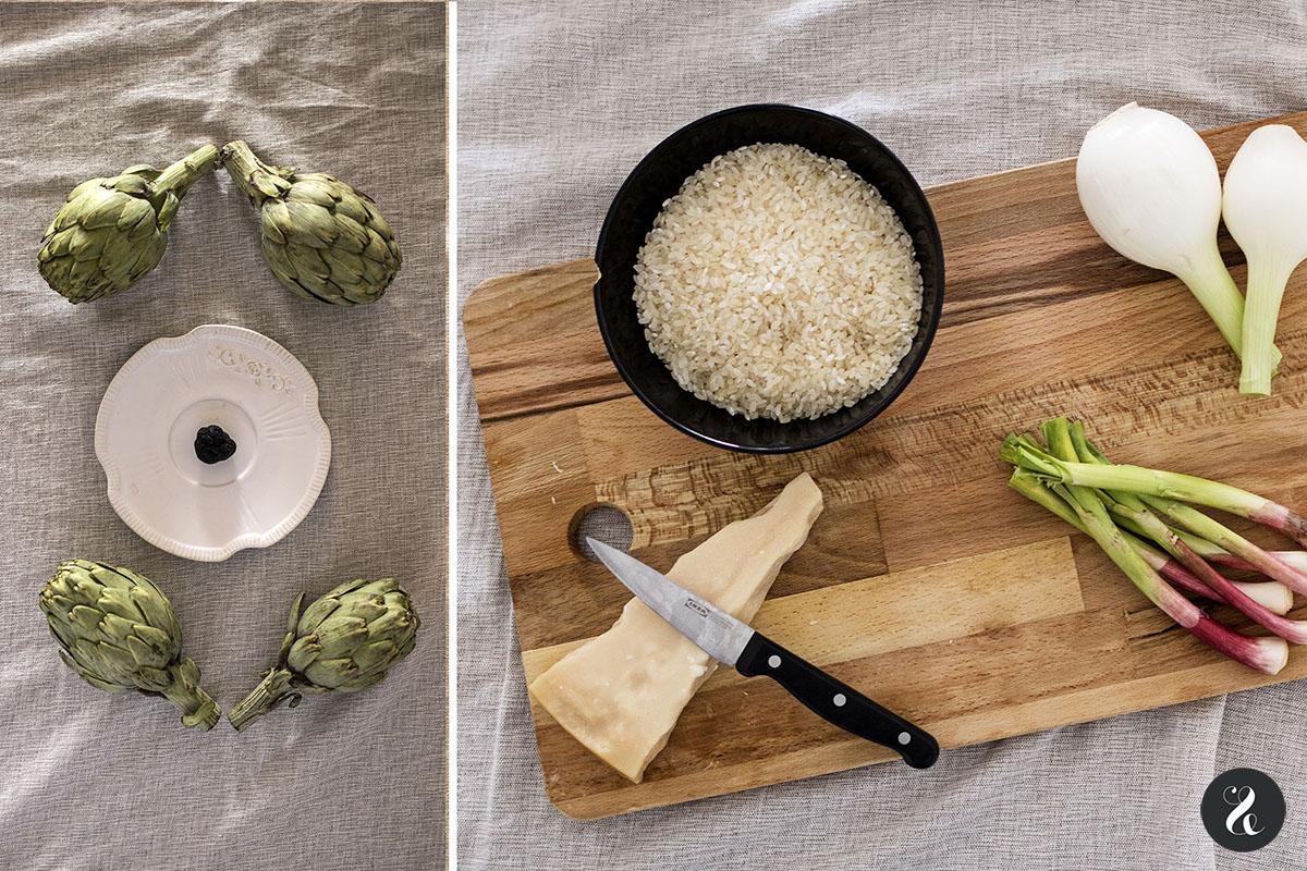 Receta Risotto trufado con alcachofas