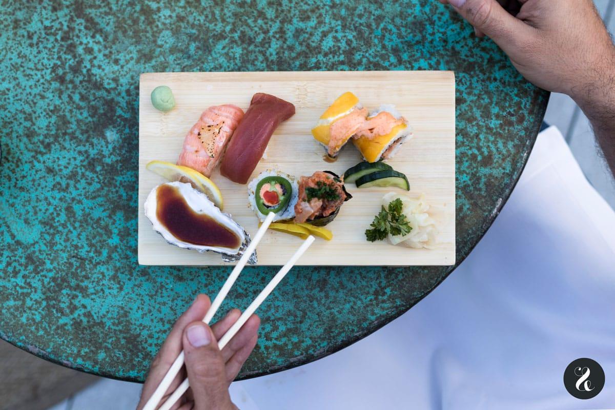 sushi moriawase terraza Florida Retiro Madrid