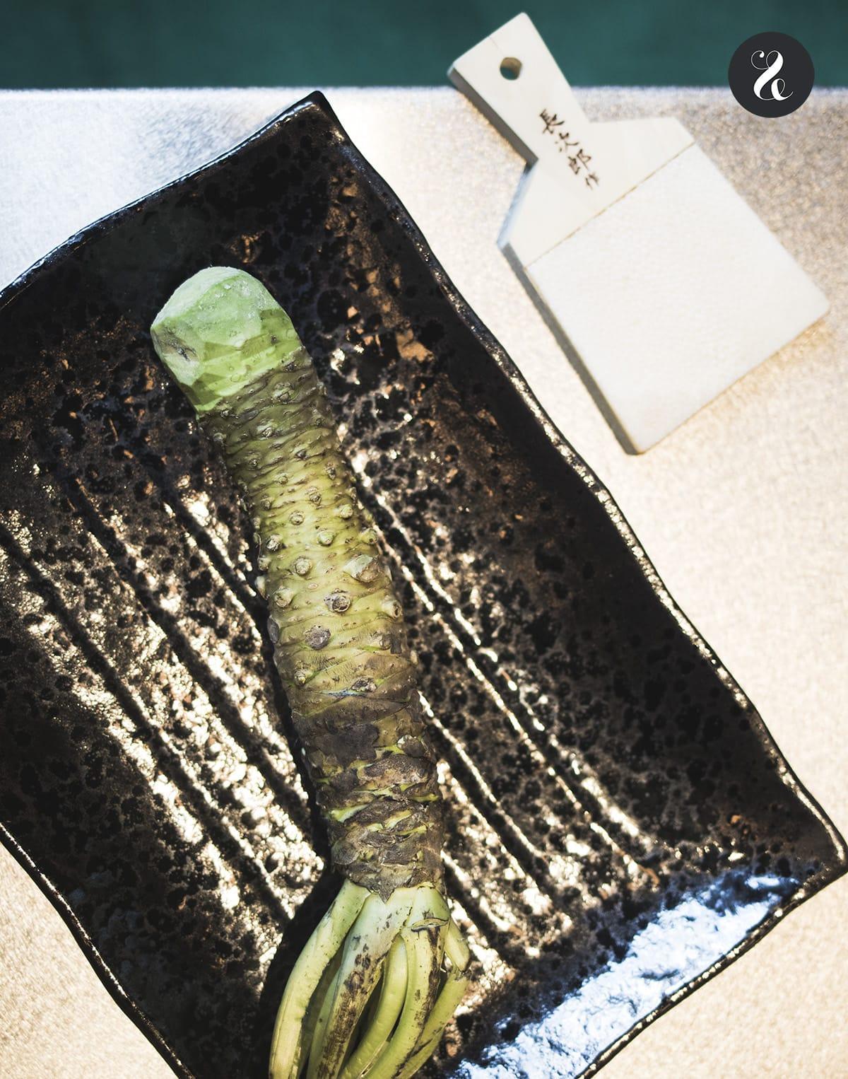 Yakiniku Rikyu - raíz de wasabi