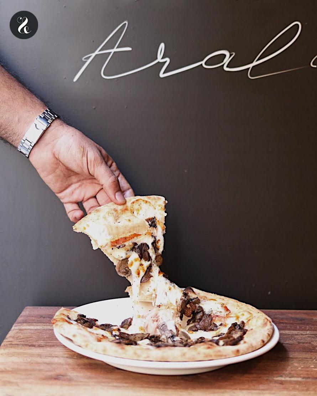 Araldo Madrid - Pizzeria - Pizza de panceta y champiñones