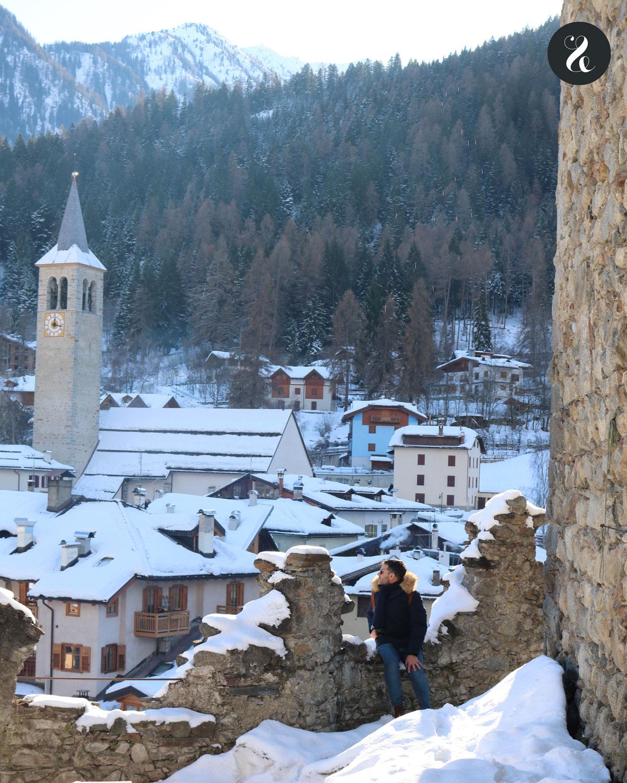 Vistas de Ossana, un encantador pueblito en Val di Sole (Trentino, Alpes italianos)