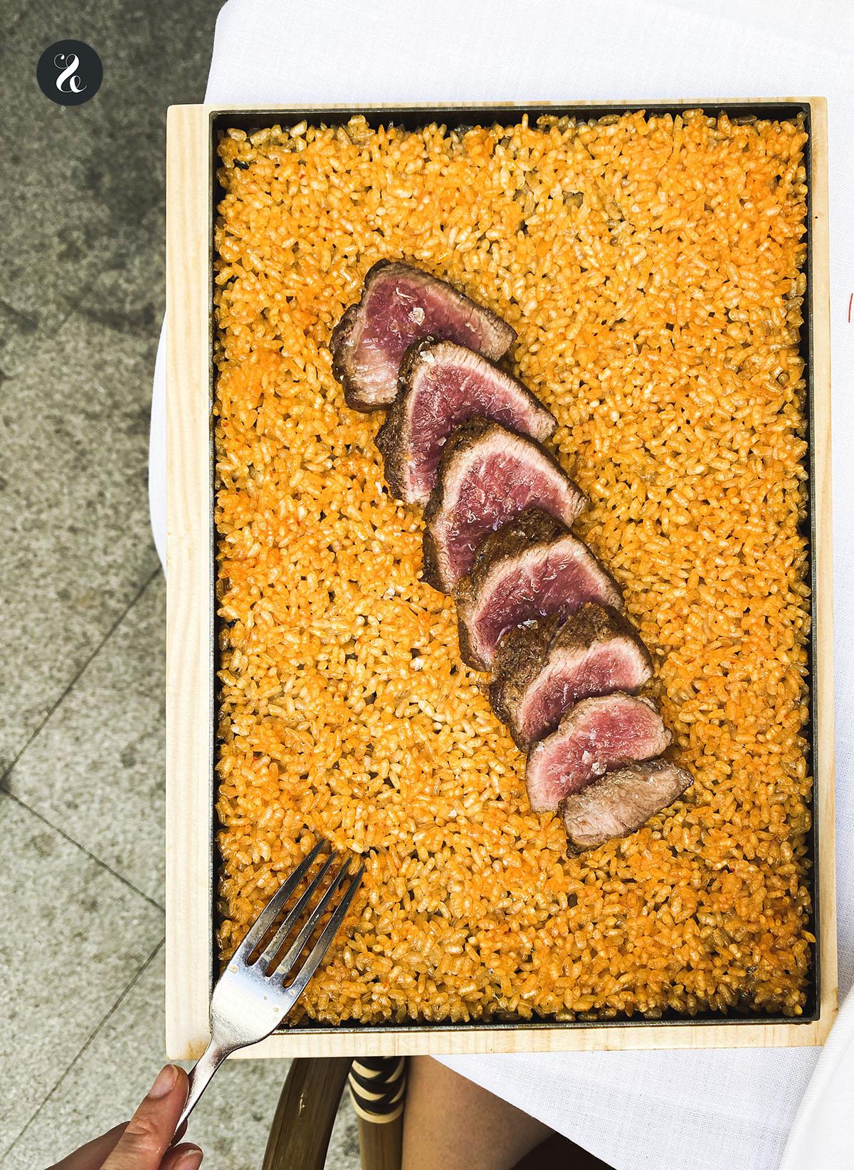 arroz de presa ibérica - Casa Orellana - Madrid