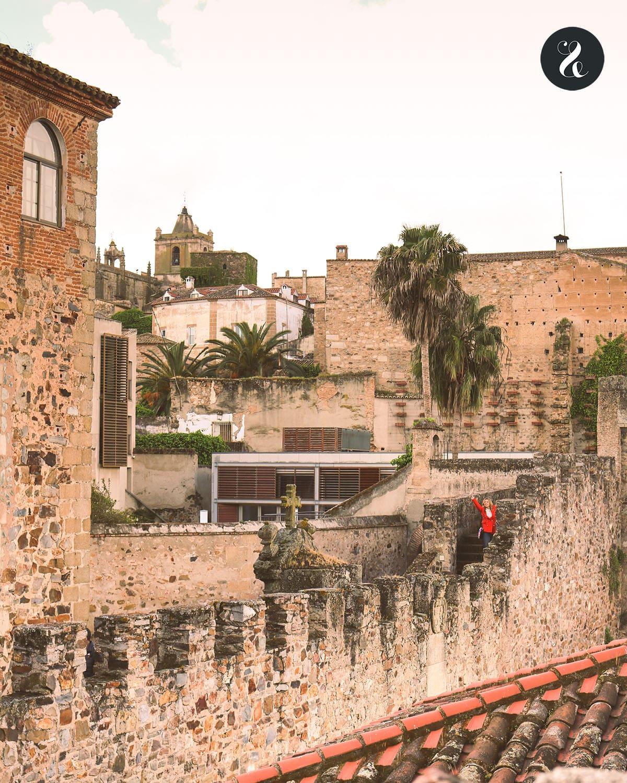 Qué ver en Cáceres - Murallas de la torre de Bujaco